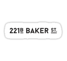 221B Baker St. Sticker