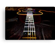 Neon guitar Canvas Print