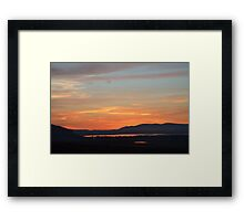 Red sky over the loch Framed Print