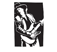Stevie Ray Vaughan Double Trouble Photographic Print