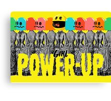 Girl Power-Up Canvas Print