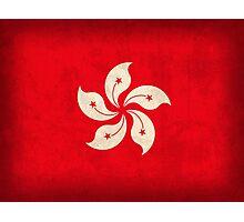 Hong Kong Flag Photographic Print