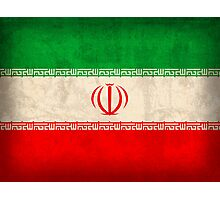 Iran Flag Photographic Print
