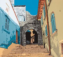 Old Town steps, Rovinj by Rob Meredith