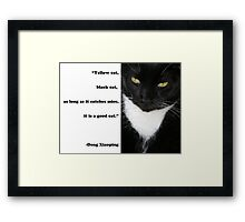 """Yellow Cat, Black Cat..."" Quote by Deng Xiaoping Framed Print"