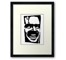 Jack Nicholson The Shining Framed Print