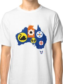 Flag Map of States and Territories of Australia  Classic T-Shirt