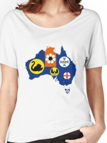 Flag Map of States and Territories of Australia  Women's Relaxed Fit T-Shirt