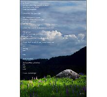 Spring Poster EE Cummings Quote Photographic Print