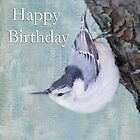 Happy Birthday Tufted Titmouse by daphsam