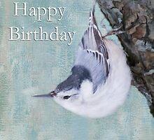 Happy Birthday Tufted Titmouse by daphsam