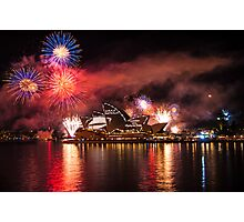 Fleet Review Fireworks Photographic Print