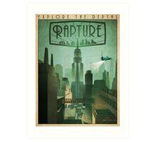 Rapture Art-Deco Travel Poster Art Print