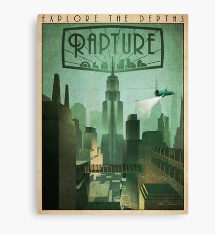 Rapture Art-Deco Travel Poster Canvas Print