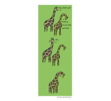Consolation: Giraffes Photographic Print