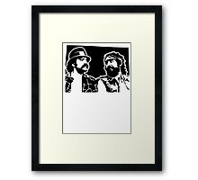 Cheech and Chong Framed Print