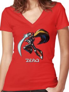 Zero- Maverick Hunter Women's Fitted V-Neck T-Shirt