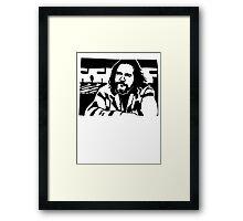 The Dude Big Lebowski Framed Print