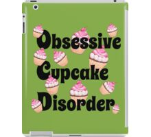 Cute Green with Pink Obsessive Cupcake Disorder iPad Case/Skin