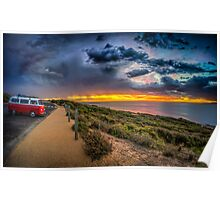 Surfer Sunrise, Bells Beach Poster
