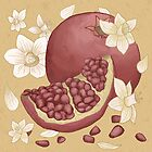 Narcissus and pomegranate by Bailey  Watro