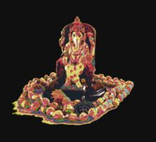 Hindu deity Lord Ganesha by fineline