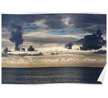 Wonderful cloudy evening sky over the sea Poster