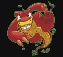 Red Dinosaur Tshirt by Toonfused
