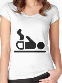 Baby Change Symbol Women's Fitted Scoop T-Shirt