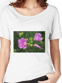 Delightful pink Mallow flowers Women's Relaxed Fit T-Shirt