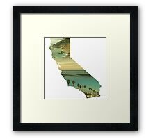 California Collage Framed Print