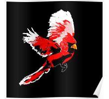 Painted Cardinal Design Poster