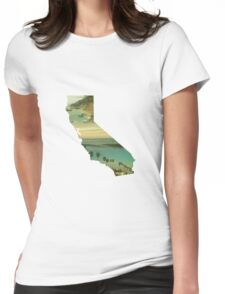 California Collage Womens Fitted T-Shirt