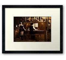 Saloon Serenade Framed Print