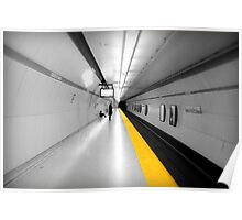 Subway Yellow Line Poster
