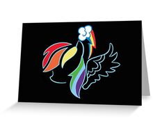 Rainbow Dash Silhouette Greeting Card