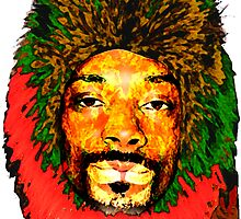 Snoop Lion red, gold and green by dno123