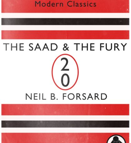 The Saad & The Fury Book Cover Sticker