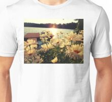 Flowers by the Lake Unisex T-Shirt