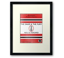 The Saad & The Fury Book Cover Framed Print