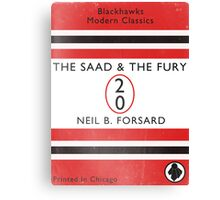 The Saad & The Fury Book Cover Canvas Print