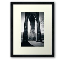 Under St. John's Bridge Framed Print