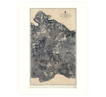 Civil War Maps 1820 The Wilderness 1864 Art Print