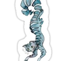 Blue Cheshire Cat Sticker