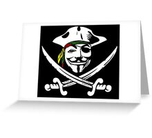 Rasta Anonymous Flag Greeting Card
