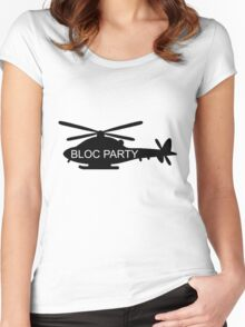 Bloc Party Helicopter Women's Fitted Scoop T-Shirt