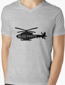 Bloc Party Helicopter Mens V-Neck T-Shirt