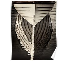 Boat mirrored Poster