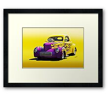 1941 Willys Coupe 'Yellow Studio' Framed Print