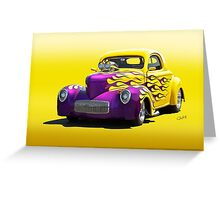 1941 Willys Coupe 'Yellow Studio' Greeting Card